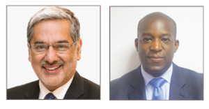 Prof Raman Bedi and Dr Andrew Osafo